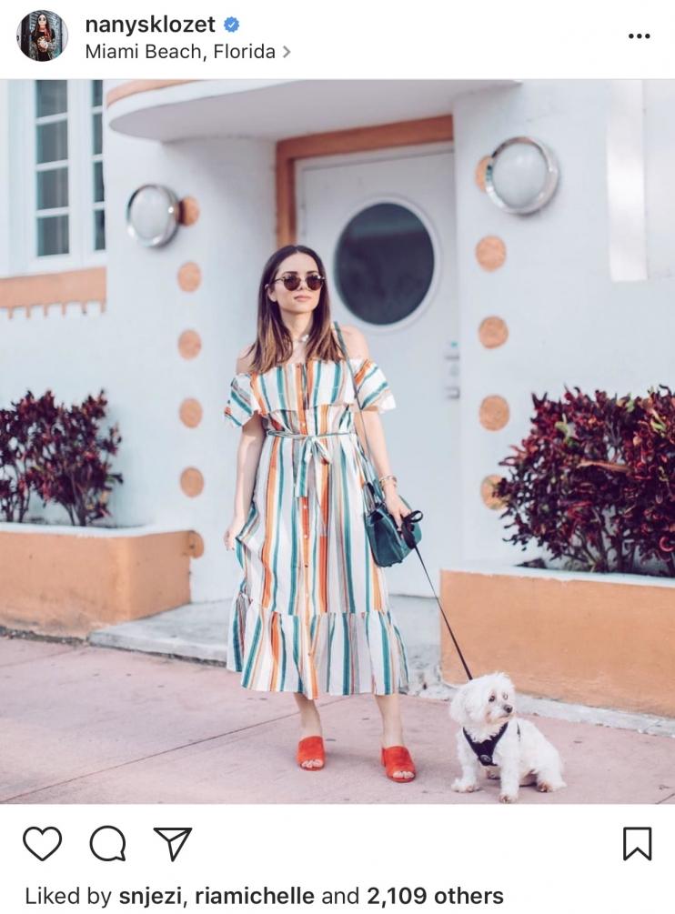 Nanys Klozet Instagram - Colorful Striped Midi dress