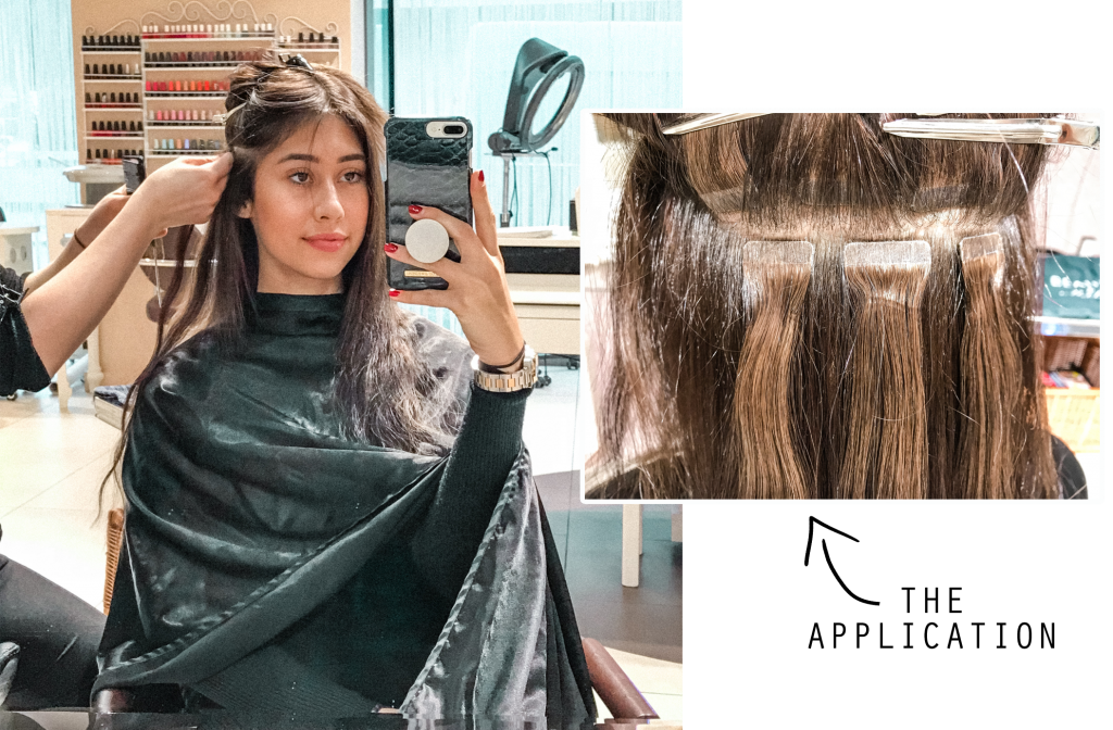 tape hair extensions short to long beauty & melody