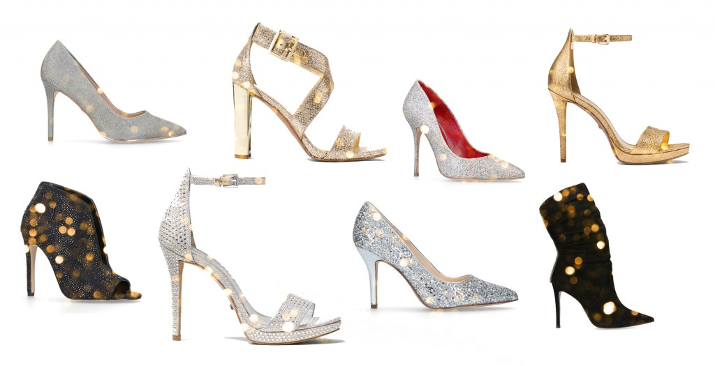 glitter heels party outfits 2018